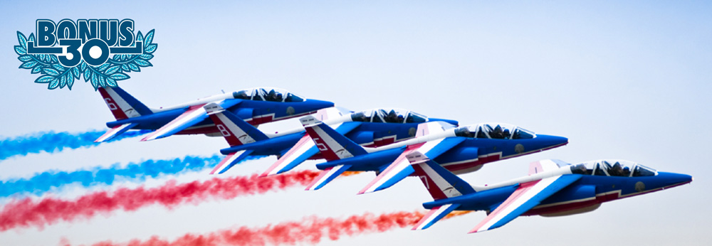 PATROUILLE DE FRANCE IN THE SKY OF EUROCKS